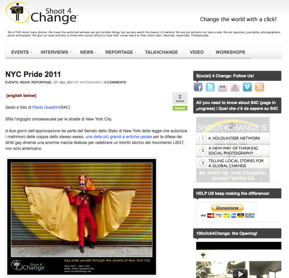 shoot4change.net – NYC Pride 2011