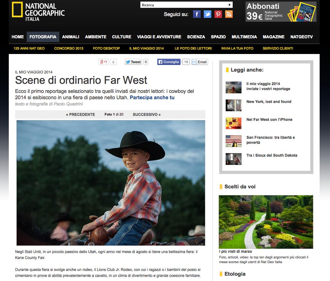 National Geographic - Scene di ordinario Far West