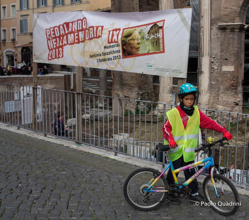 Roma Pedalando nella Memoria Memorial Settimia Spizzichino Febbraio 2013