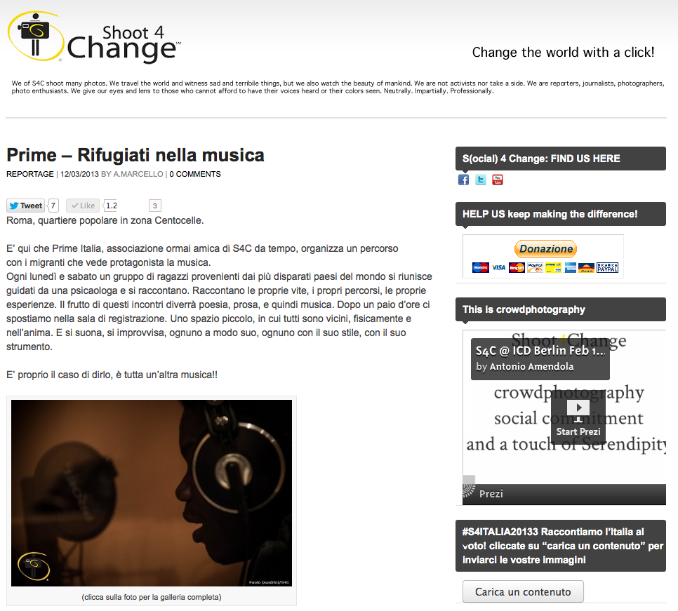 shoot4change.net - Prime – Rifugiati nella musica