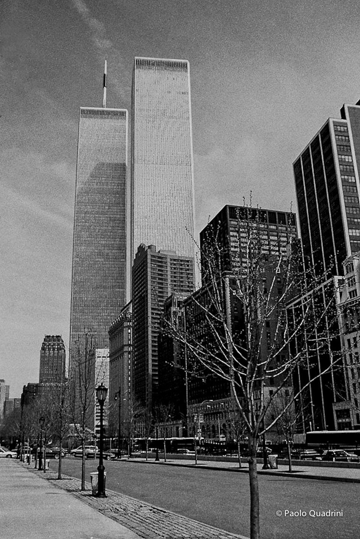 New York - un vecchio ricordo delle Torri Gemelle